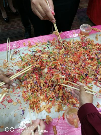 Yee Sang with the team Yeesang Chinese New Year Chinese Culture