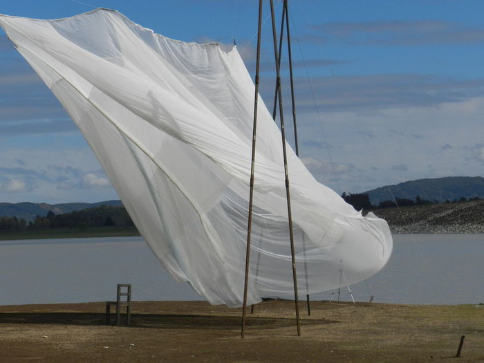 Architecture Cloth Installation Art Nature White Water Chair