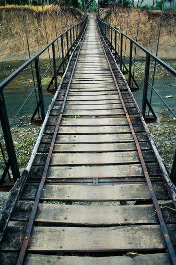 Footbridge on railway bridge