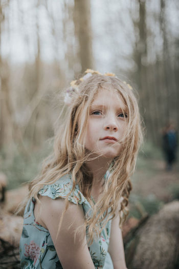 Portrait Of Girl In Forest