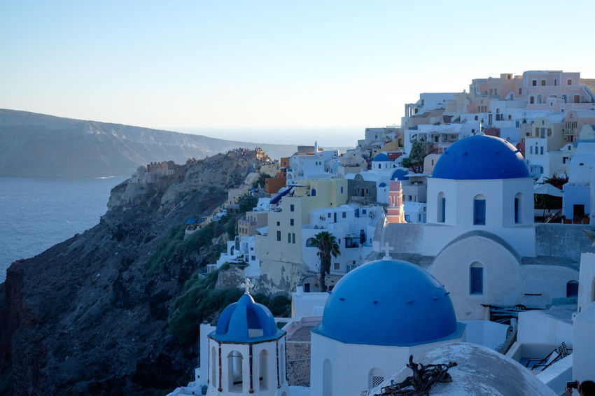 Oia Santorini Architecture Blue Blue Domes Blue Rooftops Built Structure Dome Oia Religion Spirituality