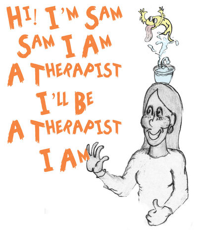 card for intern therapist Greeting Card  Thank You Card Fish Bowl Drawing Fun Drawing ✏ Photoshop Edit Cartoon Art