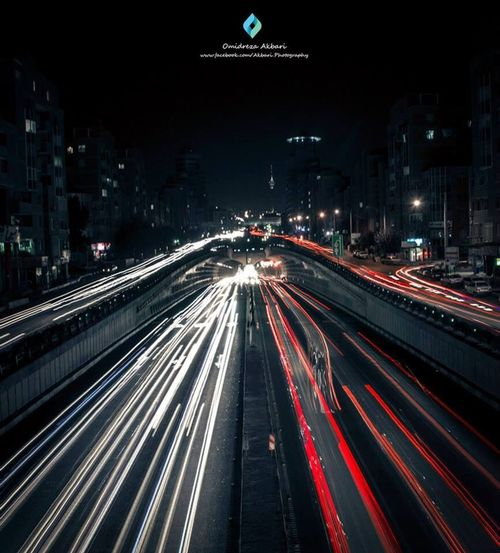 Tehran night Photography City Lights Street Photography