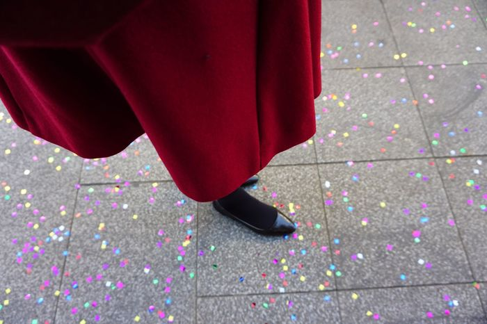 Carnival Crowds And Details Streetphotography Street Human Leg City Red Dress Carnival Celebration Confetti Atmospheric Mood One Person Day People Citylife Outdoors Colors
