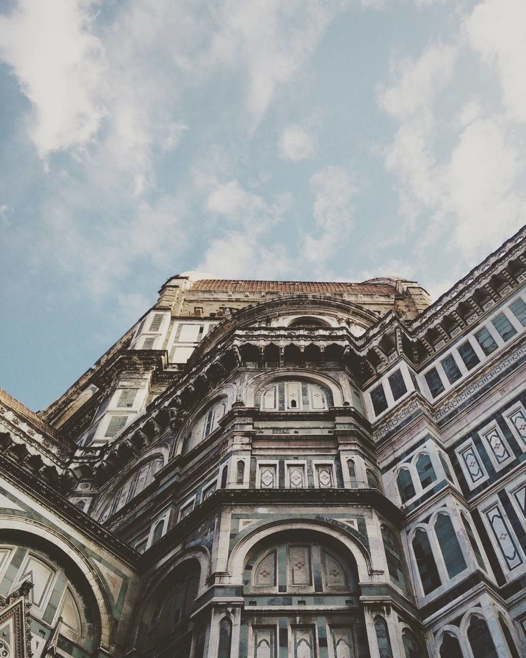 architecture, built structure, building exterior, low angle view, sky, history, no people, day, outdoors, cloud - sky