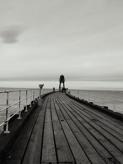 Pier Wood Pier Whitby Sea Black & White Blackandwhite Photography From Where I Stand