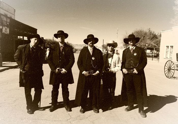 The Week On EyeEm Ok Corral Western Sepia Men Sunglasses Adults Only Group Of People Outdoors Only Men Adult Historical Place Historic City Historic Landscapes Tombstone AZ