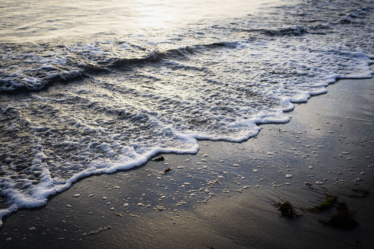 Water Beach Land Water Nature Aquatic Sport Surfing High Angle View Day Sea Sand Sport Beauty In Nature Motion Outdoors Wave Winter Tranquility Flowing Water