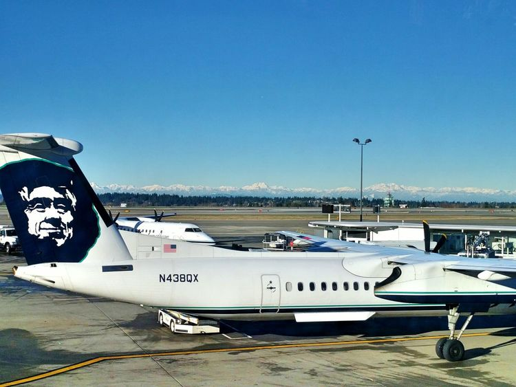 Seattle Seatac Airport Airport Plane Mountains Mountains And Sky Snow Mountains And Snow It's Cold Outside Showcase: January Nature Travel Holiday Traveling