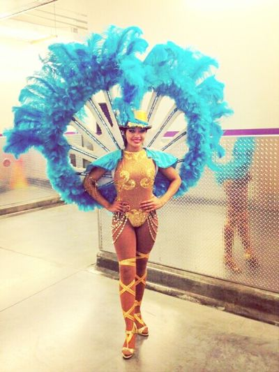 Beautiful Circus Colorful Showgirl