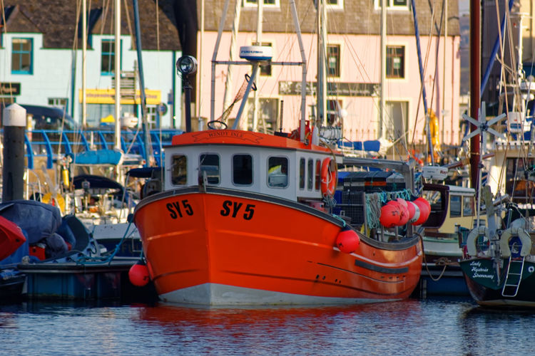 Stornoway Harbour, Isle of Lewis, Outer Hebrides,Scotland. Architecture Cruise Ship E.U. Fishing Harbour Outer Hebrides Scotland TOWNSCAPE Travel Vivid Colours  Brexit Fishing Industry Fleet Habour Haddock Sailboat Tourism Town Hall Travel Destinations Trawler Waterfront