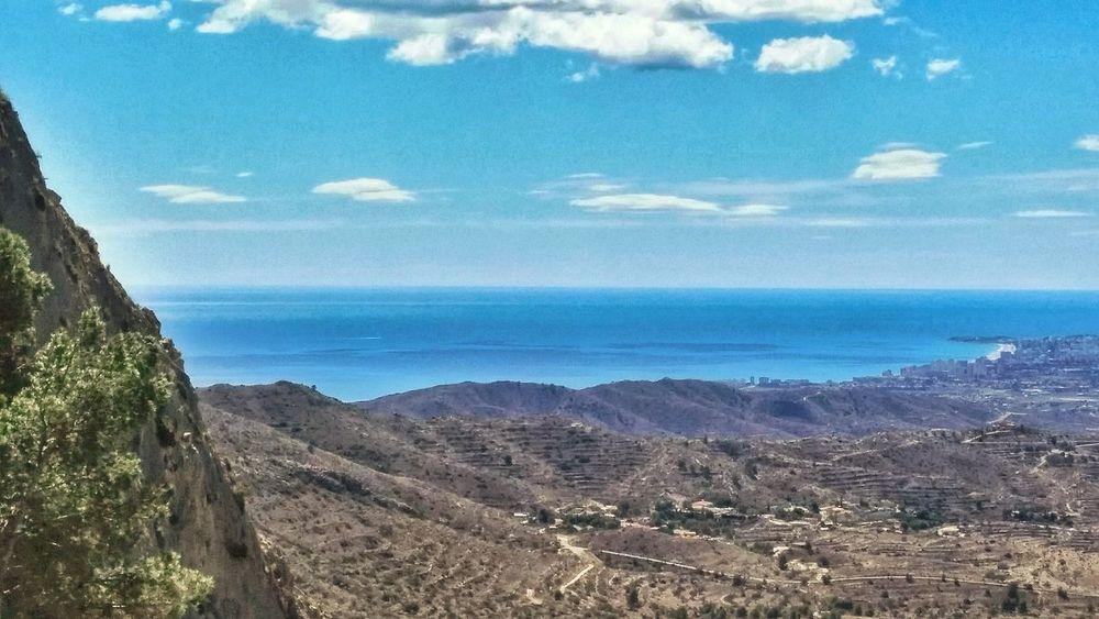 Paisaje de montaña y playa desde Busot, Alicante Streamzoofamily EyeEm Nature Lover Landscape_Collection Nature_collection
