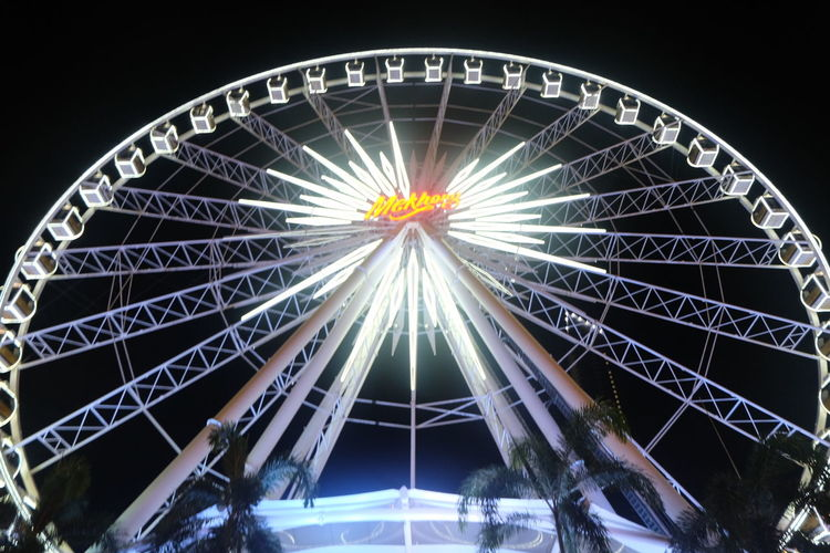 Ferris Wheel Traveling Carnival Nightlife Night Asiatique The Riverfront Thailand