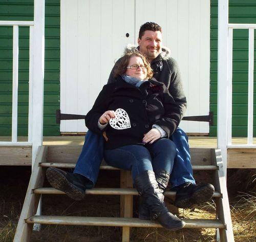 Anniversary Norfolk Uk Beachhut Happy Love Oldhunstanton Husband And Wife Heart