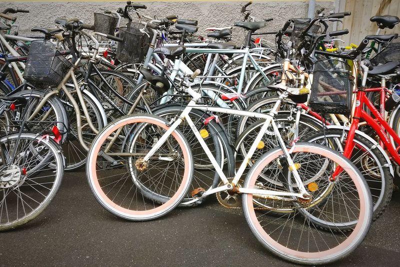 Bikes Bike Grave Yard Bike Parking Bike Area Pile Of Bikes Forgotten Cykel Bikes Bike Pile Bikesaroundtheworld Bikes In Copenhagen Bike Bicycle Close-up Bicycle Rack Wheel Vehicle Locked Parking