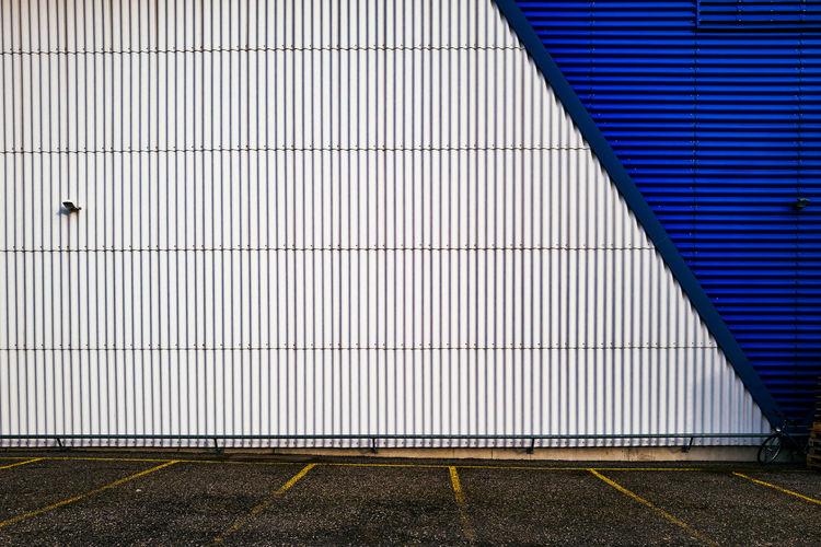 Parking Lot Against Building