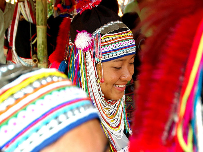 Highland Tribes Beads And Feathers Colors Of Culture Culture Thailand Happy Face Hmong Red Head Dre South East Asia Culture