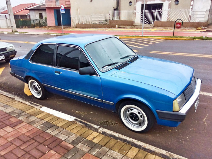 Chevette Chevrolet Antique Classic Old Blue Cian Car Retro First Eyeem Photo