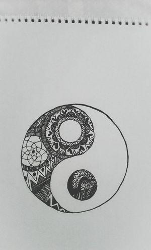 Yin & Yang Art, Drawing, Creativity My Drawing