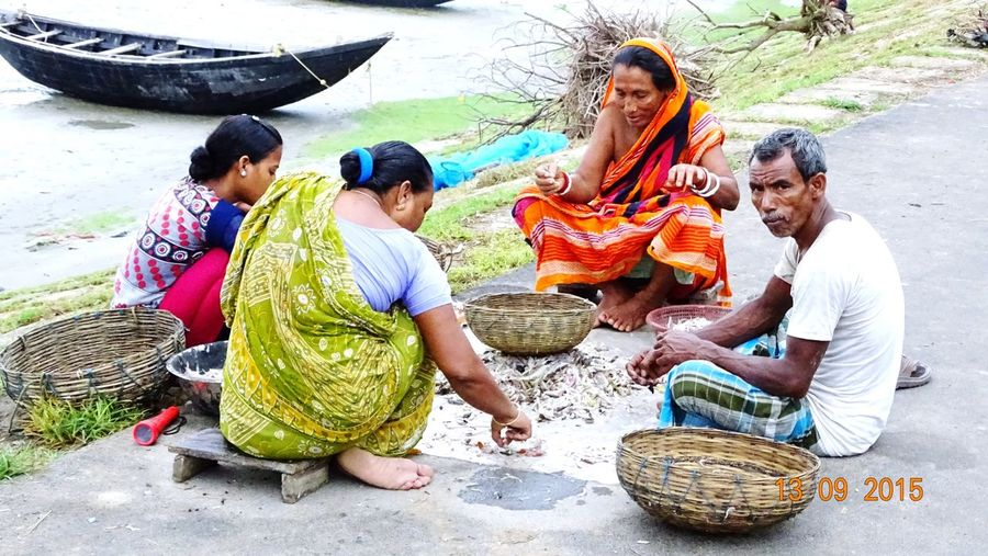 Local people of Sundarban (Mangrove of India) EyEmNewHere Men Outdoors Real People Fisherman Rural People Candid Photography Busy