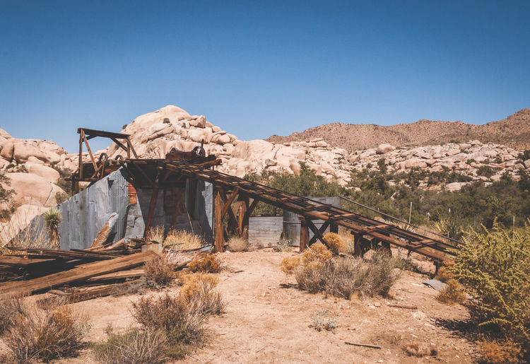 Wall street mill at joshua tree national park