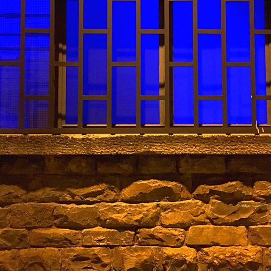 Shapes Geometric Shapes Urban Geometry Shop Blue Wall Minimal Night Photography Night Lights Rectangles