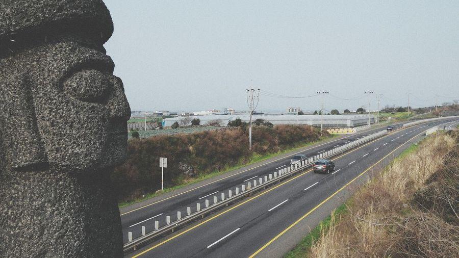 Jeju Stone Grandpa Road Highway Field Trip Long Journey Trip