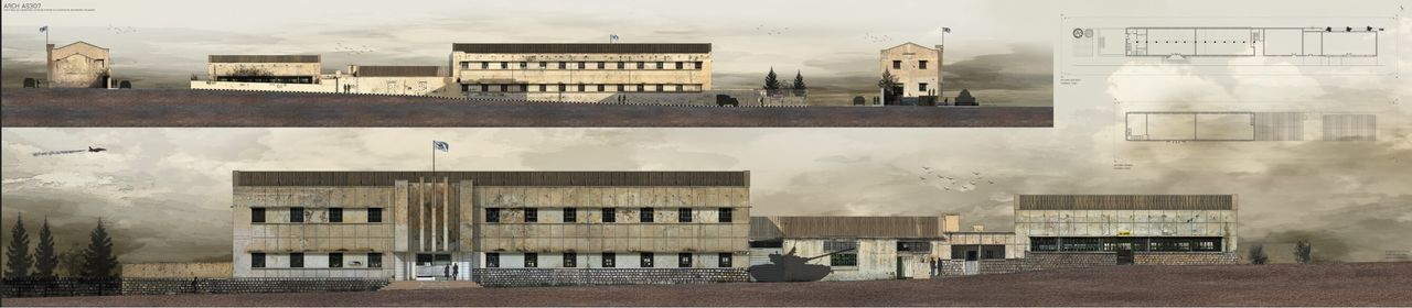 Architecture surveying, old silk factory in geroskipou, architecture project, scale 1:100 size A0