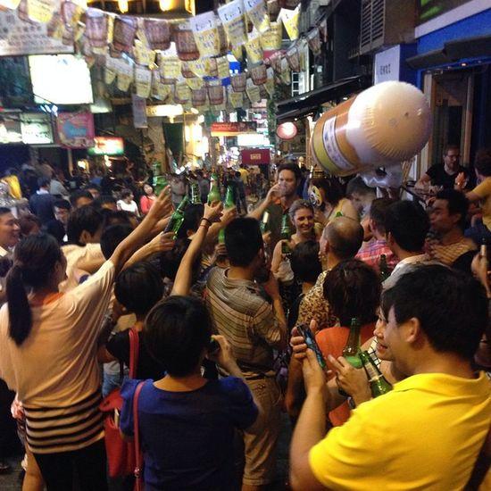 Crazy night @ LKF LanKwaiFong Trip HongKong 2014 val iphone5