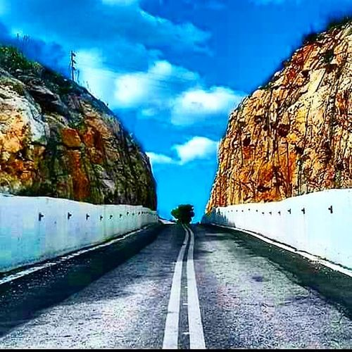 Cloud - Sky Sky Road The Way Forward Tunnel Outdoors Tree Architecture No People Day