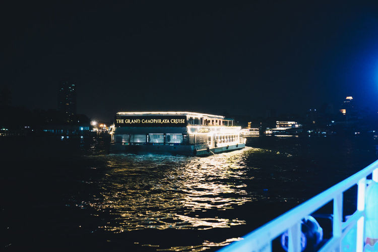 Night Architecture Built Structure Building Exterior Illuminated Water City Nature Sky No People River Nautical Vessel Building Travel Destinations Outdoors Transportation Waterfront Copy Space Clear Sky Passenger Craft