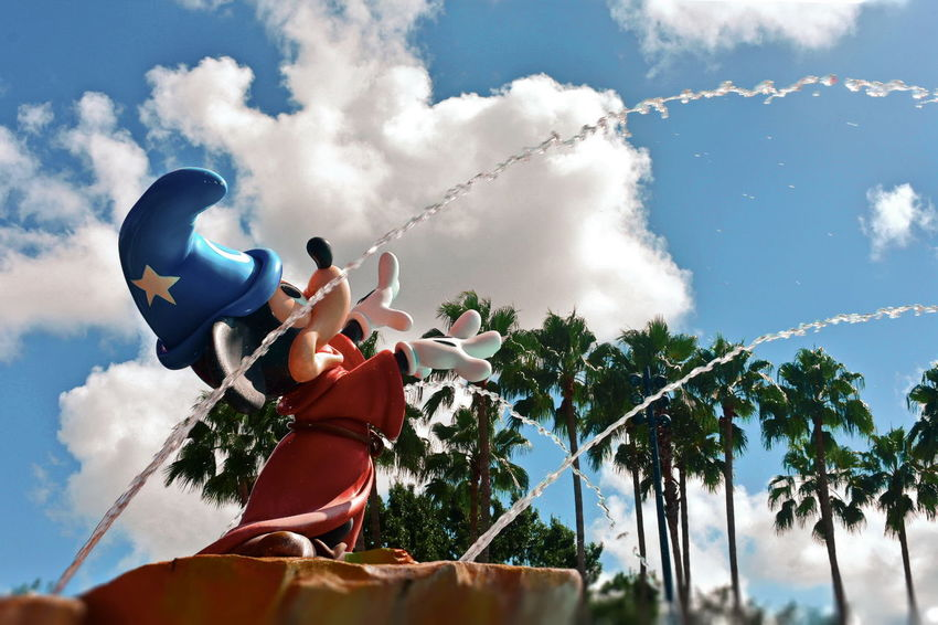 Orlando, Florida USA August 05, 2018 Fountain, Mickey Mouse, Value Hotels in Orlando, Florida Walt Disney World DisneyWorld Disney Hotels Balloon Disney Store Taxi Boat Mickie Mouse Coca Cola Planet Hollywood Restaurant Art Decor Shopping Rollercoaster Disney Springs Attraction Theme Park Boardwalk Fireworks Summer Show Travel Tourism Italian Food Latin Food Magic