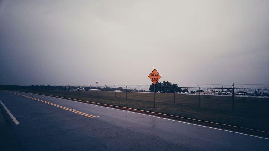 Airport Airfield Deadend Streetphotography Streetsigns