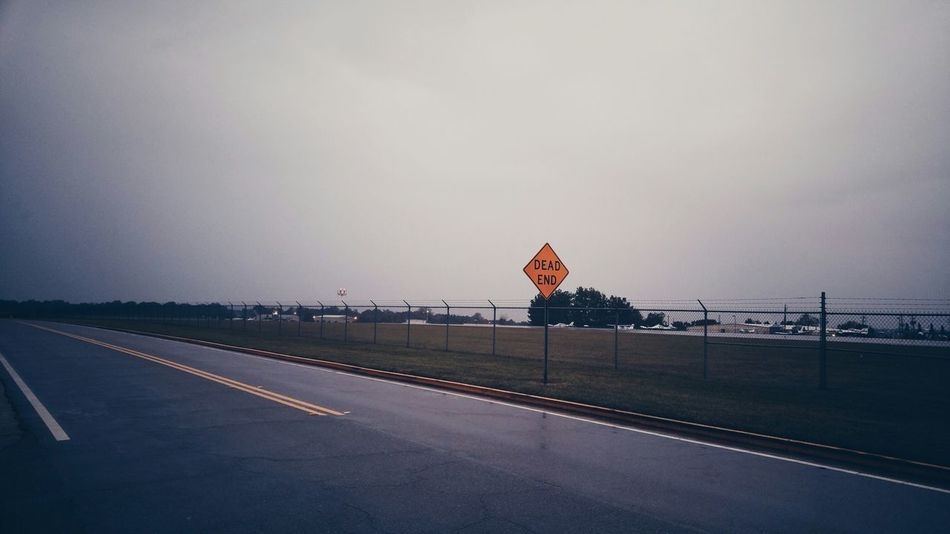 Airport Airfield Deadend Streetphotography Streetsigns
