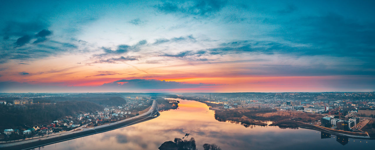 Confluence, drone aerial panorama Aerial Shot City DJI Mavic Pro DJI X Eyeem Drone  Aerial Aerial View Drone Photography Mavic Mavic Pro Spring Sunset