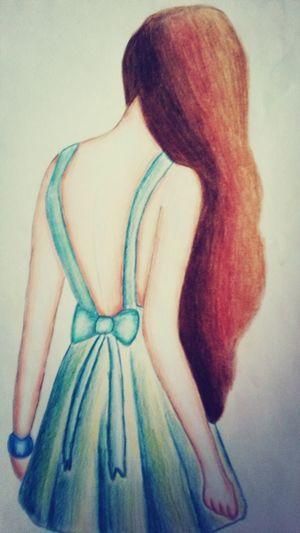 Art Drawing Dress Girl I made it ^^