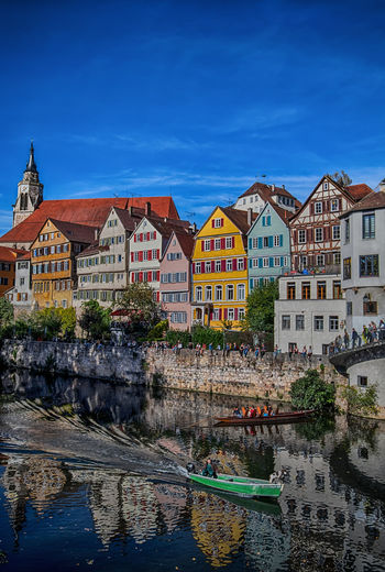Some people are magic and others are just the illusion of it. Tübingen Baden-Württemberg  Architecture European Architecture Architecture_collection Europe TOWNSCAPE Town City Cityscape City Life Multi Colored Street Life Colourful Germany Dog Boats Waterfront Water River Reflection Outdoors Travel Destinations Colourful Houses Full Frame