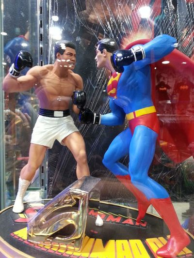Superman is even Taking It Up with Cassius Clay! yay!