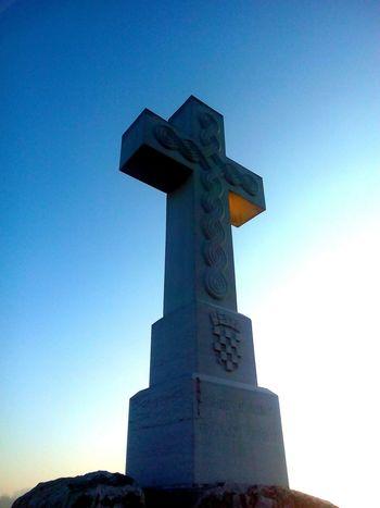 Vukovar Croatia White Crosses White And Blue