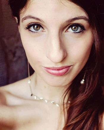 Looking At Camera Portrait Young Women Long Hair Person Green Eyes Indoors  Headshot Young Adult Make-up One Young Woman Only Confidence  Eyelash