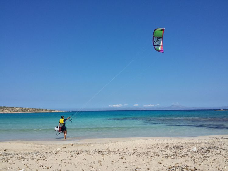 Beach Sea Sand Vacations Sport Blue Tranquility Colour Of Life Greecestagram Island Life Koufunissi Greek Colors Sea_collection Vacation Time Greece Koufonisia Greece Islandlife GREECE ♥♥ Koufonissi Island Kite Kitesurfing Kiteboarding Kite Boarding