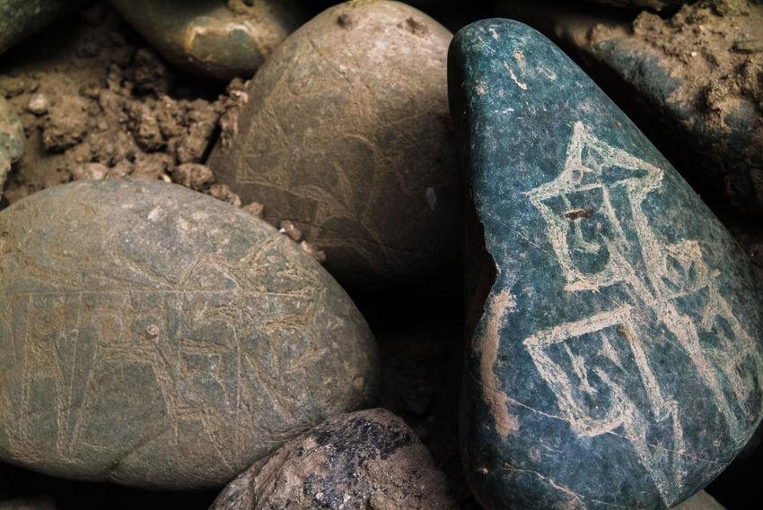 Mani stone Close-up Mani Mani Stone No People Outdoors Pray Praying Rock Rock Stone