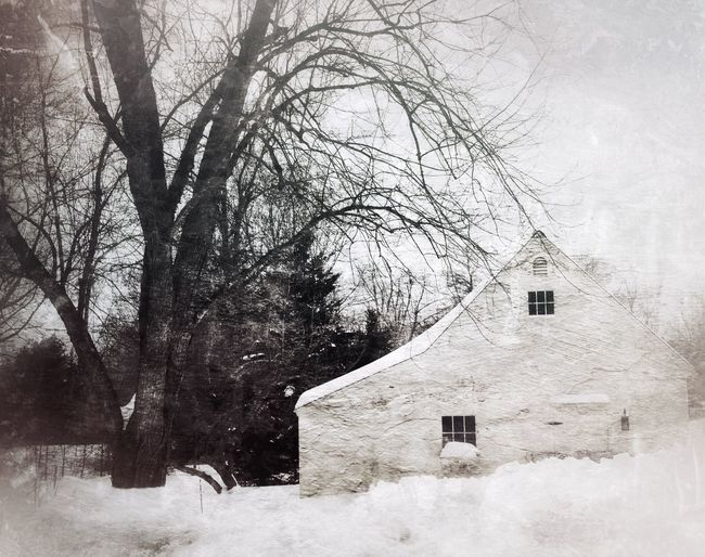 Winter Scene DistressedFX Snapseed White Out Rural Scenes Melancholic Landscapes Drive By Shooting Snowbound Winter