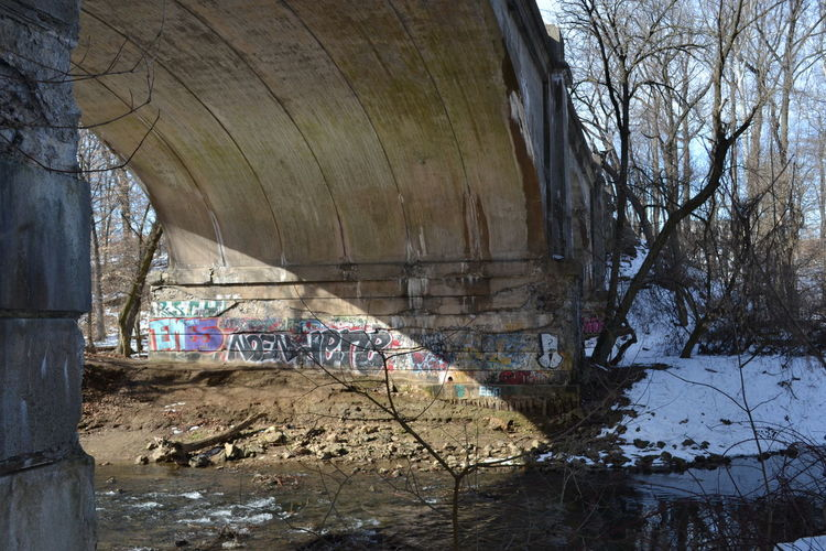 Bad Condition Bridge Bridge Over Water Damaged Geology Graffiti Graffiti Art Neglected Old Rough Ruined Textured  Troubled Bridge Over Troubled Waters Wall Breathing Space Investing In Quality Of Life