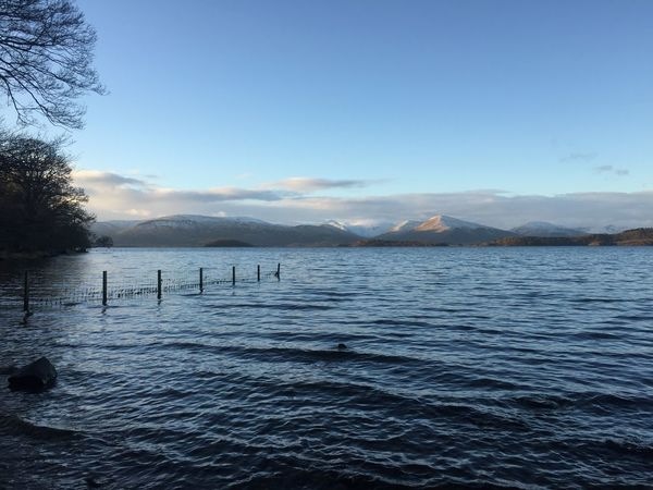 Loch  My Beautiful Country Nature On Your Doorstep Visit Scotland Beauty In Nature Cold Day Day Loch Lomond Mountain Mountain Range Nature No People Outdoors Scenics Shore Sky Tranquil Scene Tranquility Water Winter Day