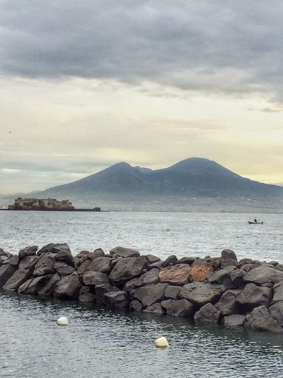 Been There. Sea Water Sky Mountain Tranquility Cloud - Sky Tranquil Scene Nature Scenics Beauty In Nature Mountain Range Outdoors Volcano Vesuvio South Italy Naples Ship At Sea Nature Rocks