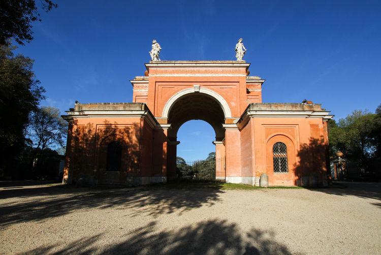 Entrance door to the park of the villa doria pamphili near the janiculum.