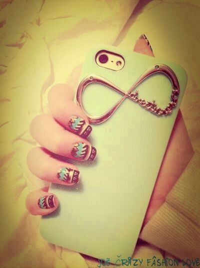 infinity#nails#coque#iphone