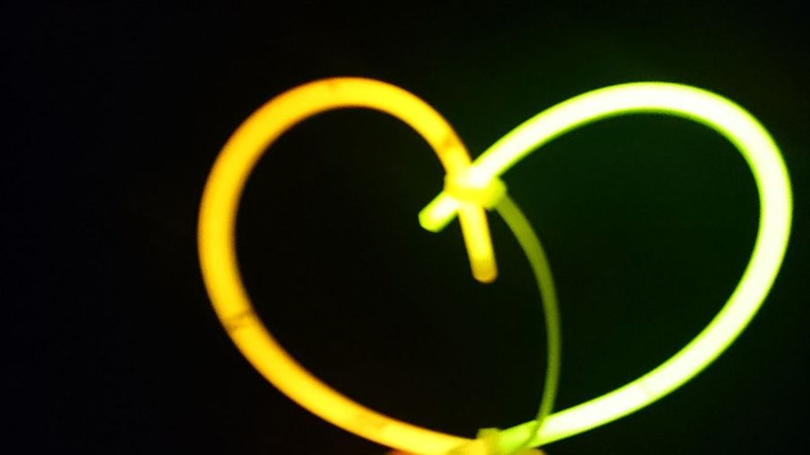 Love is everywhere Love No People Creative With Glowsticks