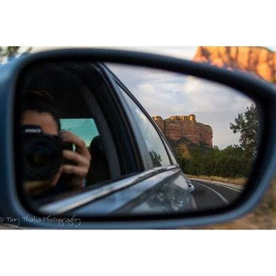 Objects in mirror are closer than they appear. Selfie Tinythaliaphotography Fstopandstare Photography car mirror nature roadtrip arizona phoenix canyon canon 7d